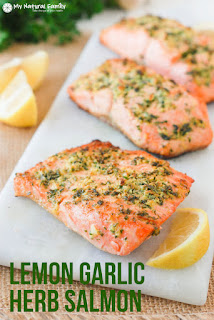 Lemon Garlic Herb Crusted Paleo Salmon Recipe