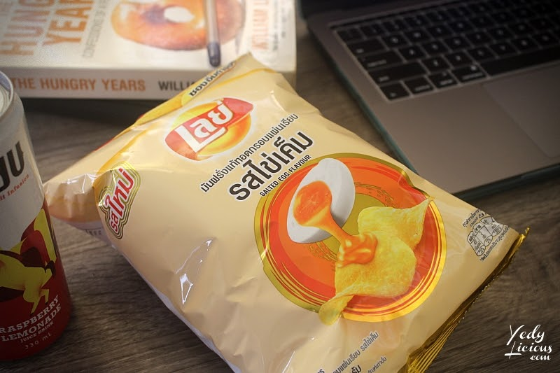 LAY'S SALTED EGG, Lay's Potato Chips Salted Egg Flavor Blog Review and YouTube Video, Lay's Thailand, Frito Lay Salted Egg Potato Chips, Where To Buy Lay's Salted Egg Potato Chips, Best Salted Egg Potato Chips, Lay's Salted Egg Potato Chips Manila Malaysia Thailand South Korea China Singapore Asia, YedyLicious Manila Food Blog Yedy Calaguas Food Stylist Photographer