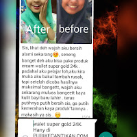 Paket Perawatan Wajah Walet Super Gold 24K Asli