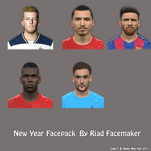 PES 2017 Happy New Year Facepack Riad Facemaker