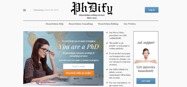 Review of PhDify.com Dissertation Services