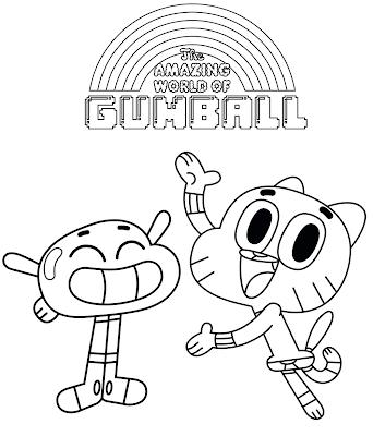 O Incrível Mundo de Gumball   Desenhos para Colorir