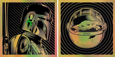 The Mandalorian Star Wars Portrait Screen Prints by Joshua Budich x Spoke Art