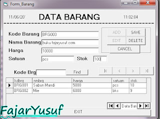 VB6 : Database & Form Barang