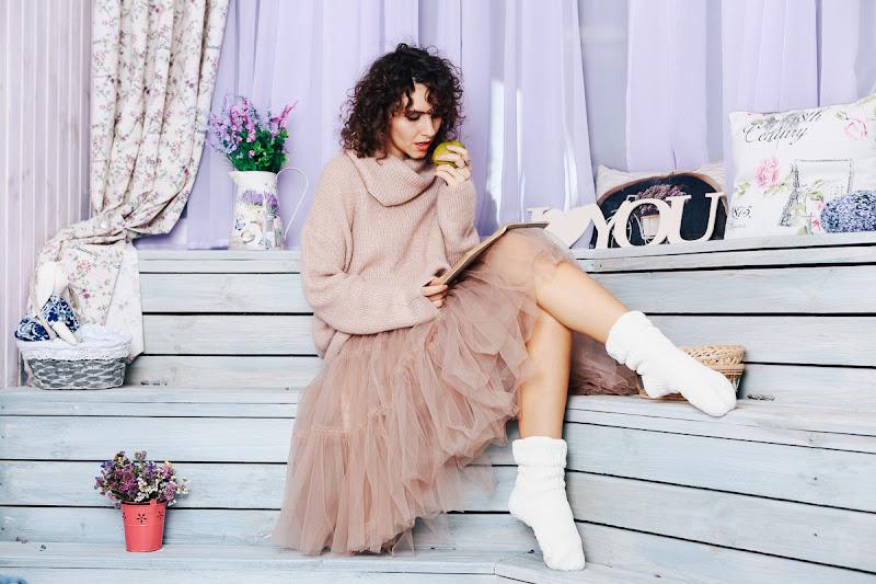 юбка пачка пастельный оттенок
