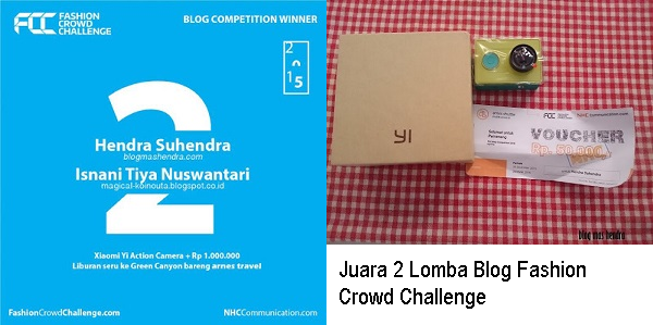 Juara 2 Lomba Blog Fashion Crowd Challenge - Blog Mas Hendra