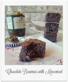 This brownie recipe is a delicious & indulgent way of creating something new with sweet mincemeat, and a great way of using up half a jar of the seasonal fruity mixture which may be lurking in the back of the fridge!