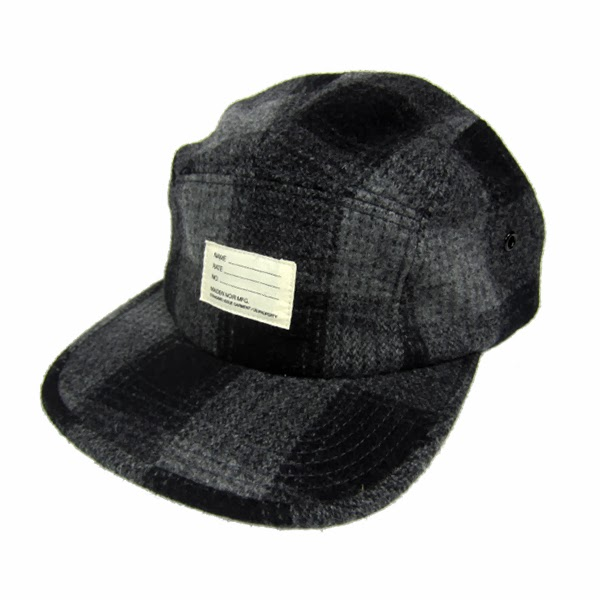 82faa883b0530 Maiden Noir Wool Check Plaid Camp Cap. Available in Red