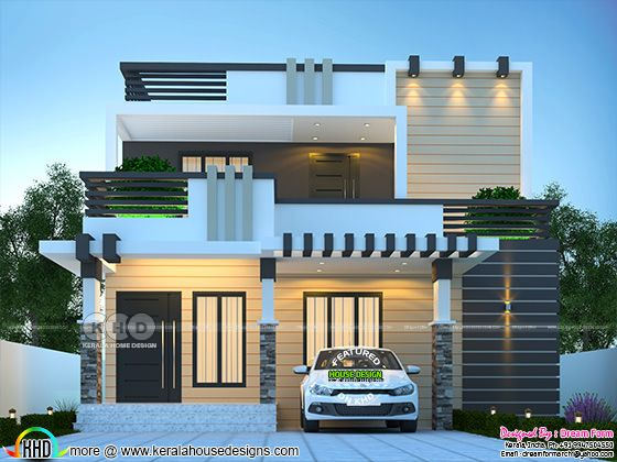 4 bedroom modern decorative style house rendering