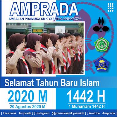 Ucapan selamat tahun baru islam 1442 H Pramuka SMK Yasmida Ambarawa