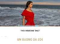 Logo OVS ''This Weekend Only'': un buono sconto da 20€ + buono sconto da 10€!