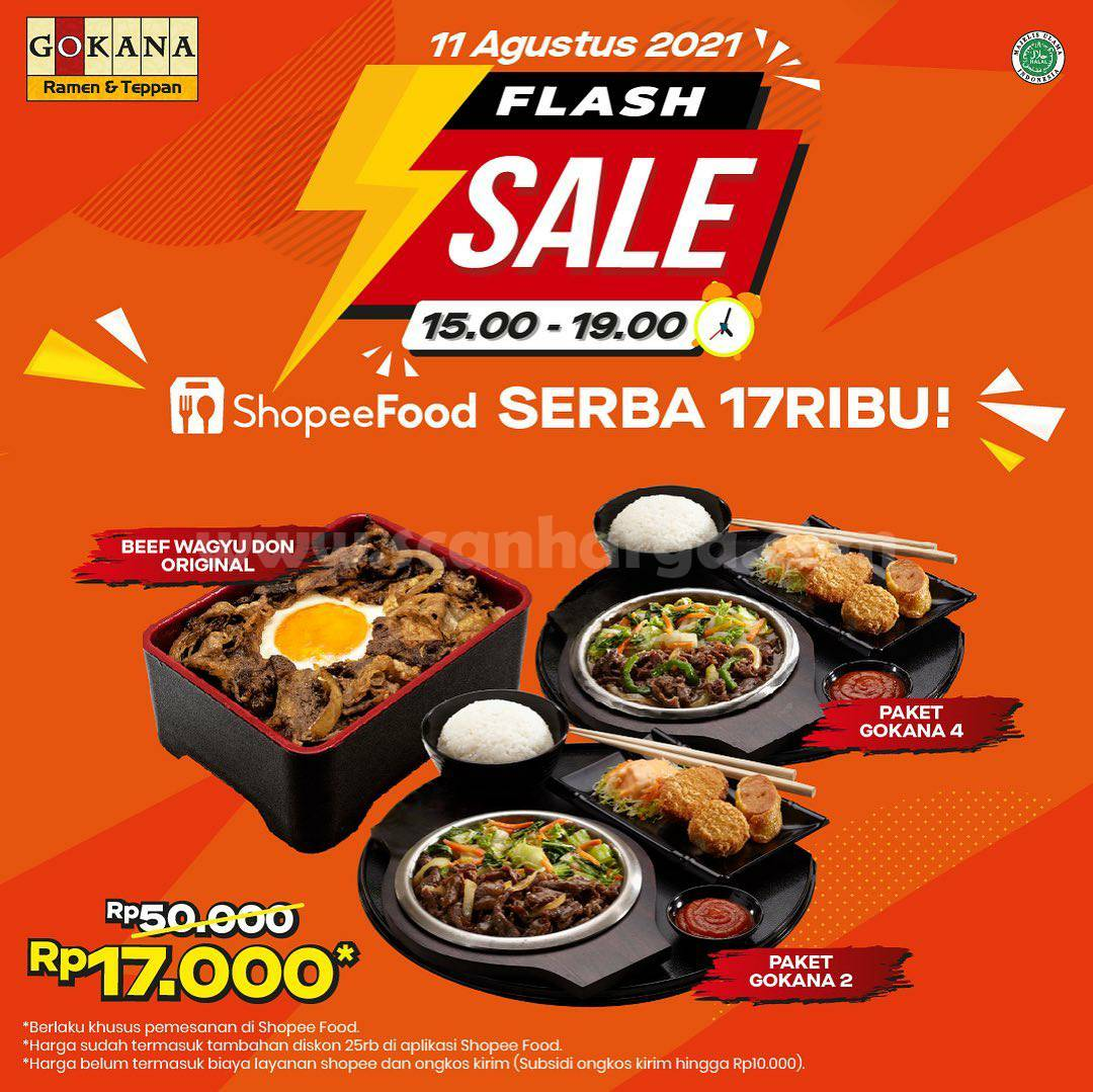 Gokana Promo Flash Sale Serba 17Ribu pemesanan via ShopeeFood