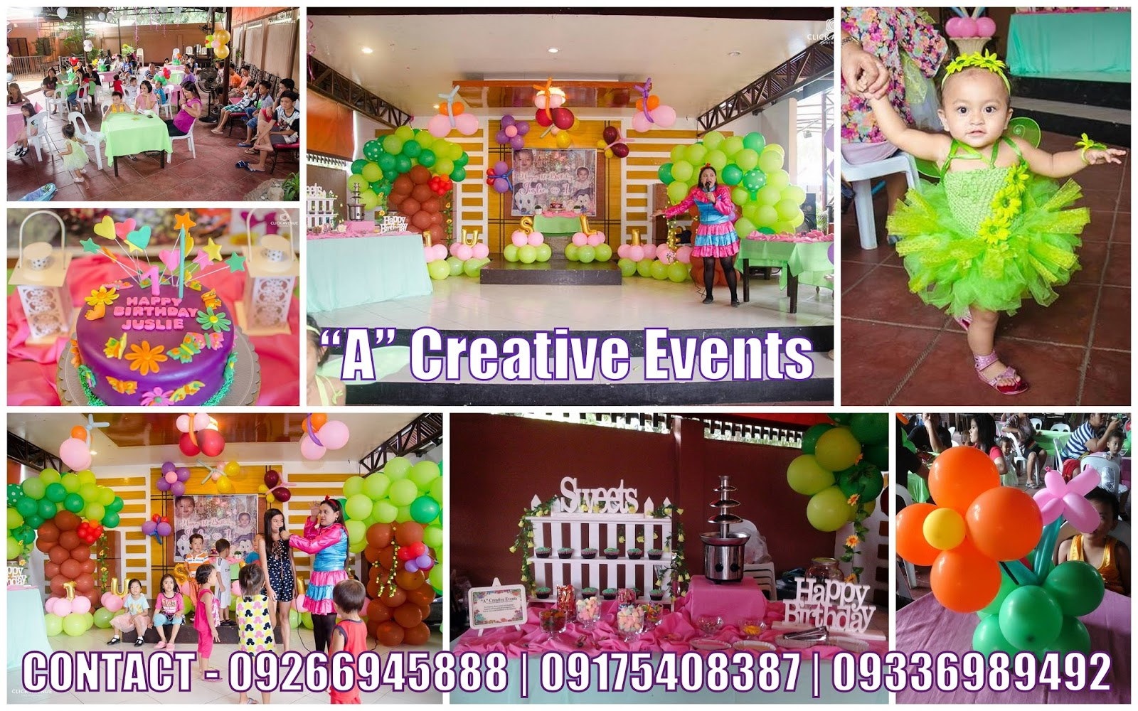 A Creative Events Formerly Athena Miel S Balloons Bubbles And Party Needs Enchanted Garden Theme For Juslie S 1st Birthday Party