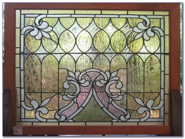 vintage stained glass window panels hangings for sale