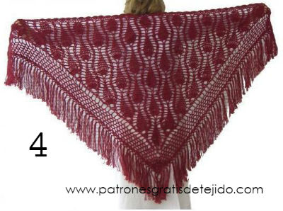 Patrones de chal crochet