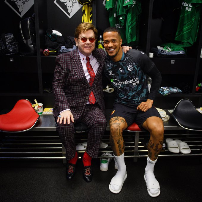 William-Troost-Ekong Hanging Out With Sir Elton John