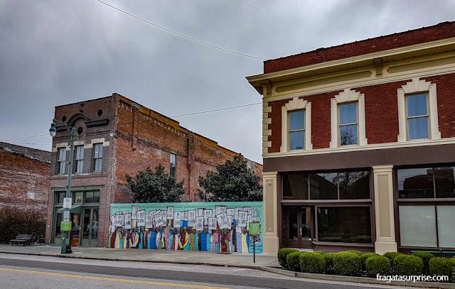 Grafite em Downtown Memphis sobre o Movimento pelos Direitos Civis