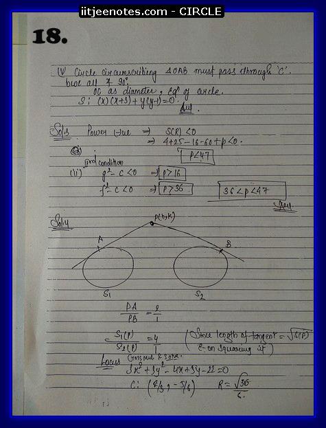 circle notes cbse8