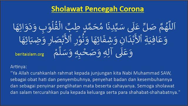 Sholawat Pencegah Virus Corona