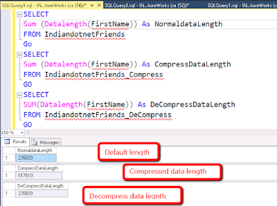 Datalength in compress data