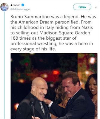 Arnold Schwarzenegger Tweets About Bruno Sammartino