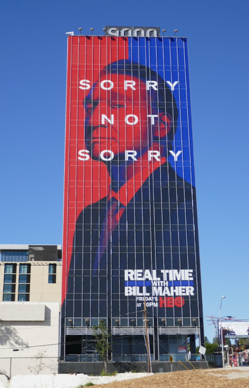 Real Time Bill Maher season 18 Sorry Not Sorry billboard