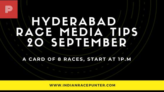 Hyderabad Race Media Tips 20 September