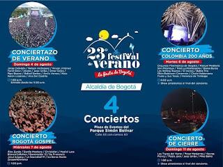 CUATRO GRANDES CONCIERTOS del Festival de Verano de Bogotá