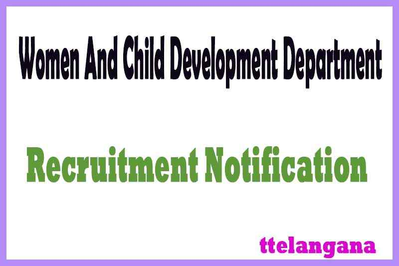 WCDD Women And Child Development Department Recruitment Notification