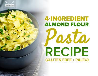 4-Ingredient Almond Flour Pasta Recipe (Gluten Free + Paleo)