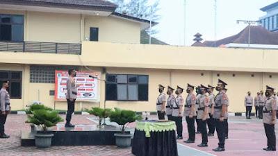 Kapolres Cilegon Pimpin Sertijab 3 Kasat dan Pengukuhan 5 Jabatan