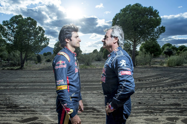 Carlos Sainz Snr and Carlos Sainz Junior Face off