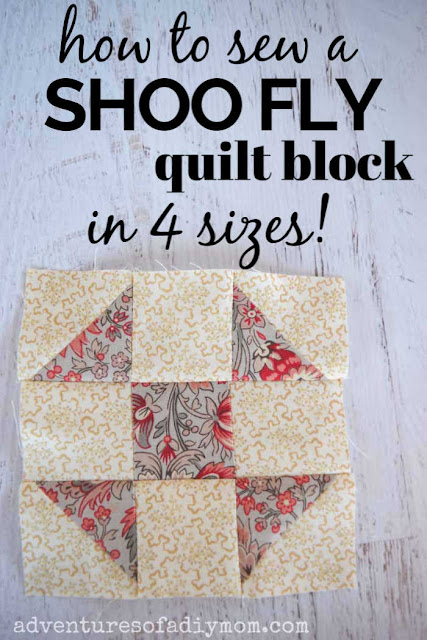 image of shoo fly quilt block