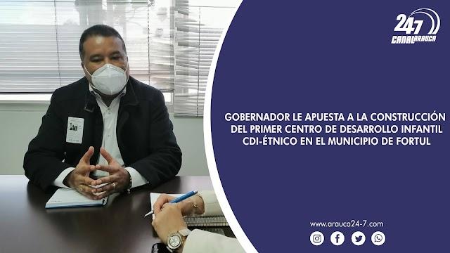 GOBERNADOR FACUNDO CASTILLO LE APUESTA A LA CONSTRUCCIÓN DEL PRIMER CENTRO DE DESARROLLO INFANTIL-CDI-ÉTNICO EN EL MUNICIPIO DE FORTUL. LA PROPUESTA FUE PLANTEADA A LA SUBDIRECTORA GENERAL DEL ICBF