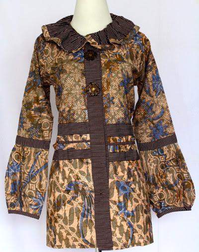 Model Baju Muslim Atasan Batik Kerja