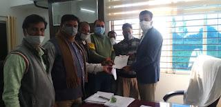 भारतीय जनता पार्टी नगर मंडल जावरा ने सौंपा ज्ञापन
