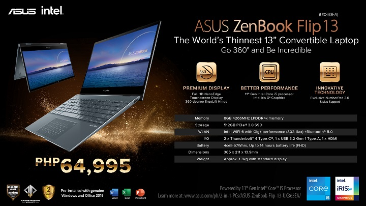 ASUS ZenBook Flip 13 with 11th Gen Intel Core