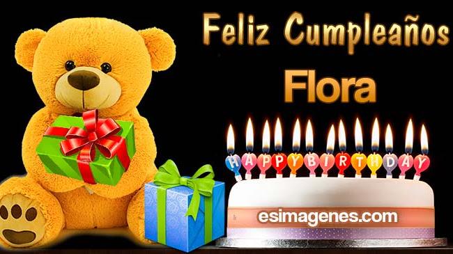 Feliz cumpleaños Flora