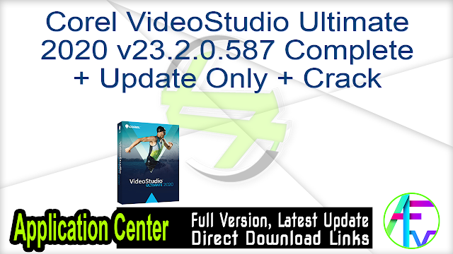 Corel VideoStudio Ultimate 2020 v23.2.0.587 Complete + Update Only + Crack