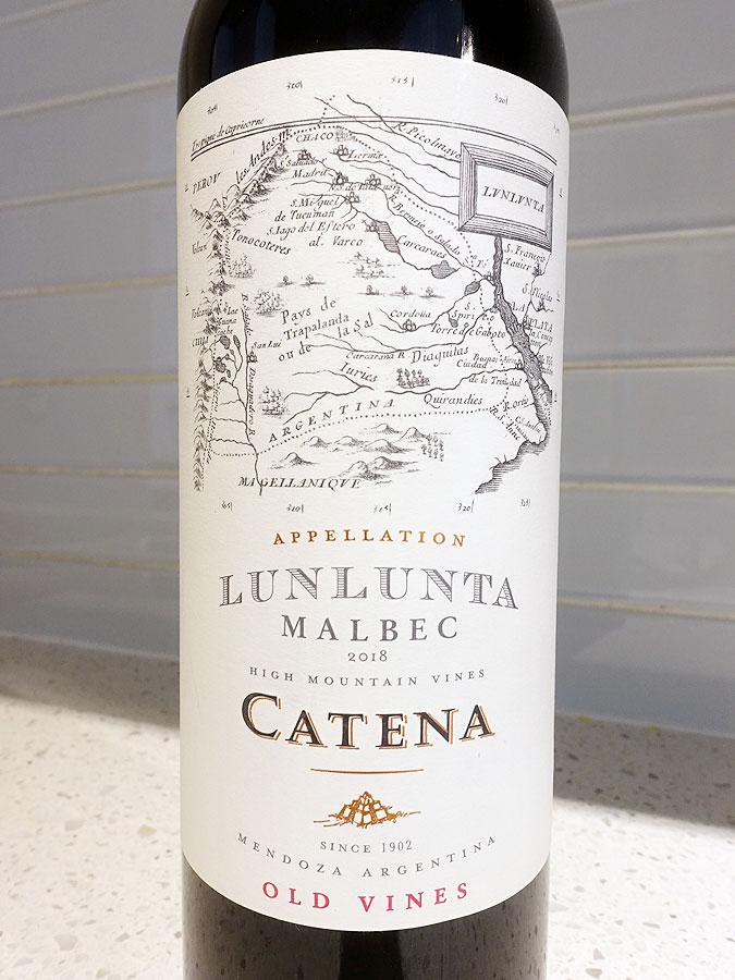 Catena Lunlunta Old Vines Appellation Malbec 2018 (91+ pts)