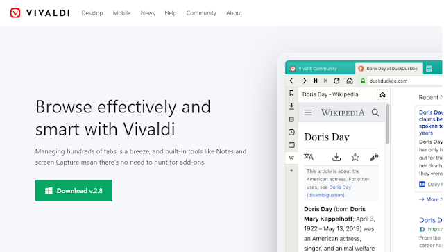 Vivaldi Privacy Browser