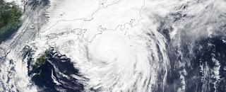 Typhoon Hagibis approaching Japan on 12 October 2019.
