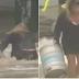 Mulher se joga ao mar durante tempestade para salvar barris de cerveja