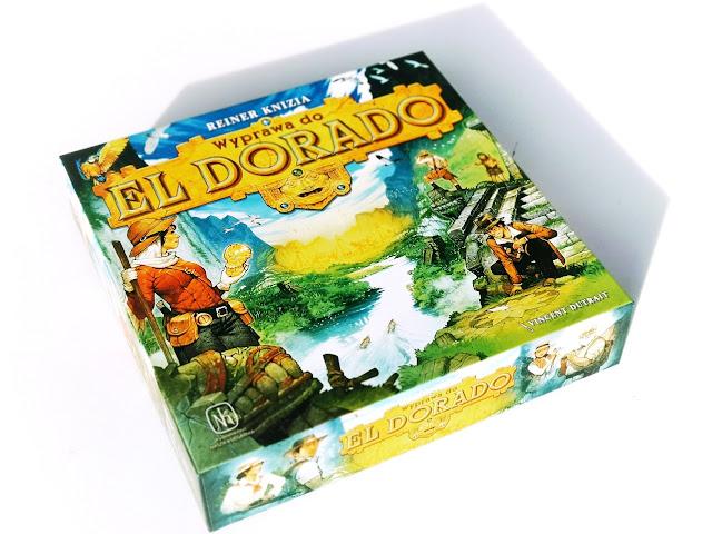 na zdjęciu pudełko gry planszowej wyprawa do eldorado