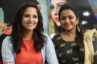 Actress Suma in Black Salwar Suit and Anusuya in orange Dress at winner movie press meet part 2 February 2017 (80).JPG