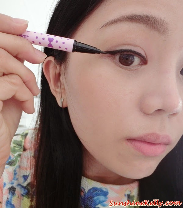 Pink Day Makeup, Koji Dolly Wink Liquid Eyeliner Deep Black, Collection Hotlights Lipgloss #3 Glimmer, Maybelline Baby Lips Electro Pop Pink Shock, Colored Lip Balm with Watermelon Flavour, Maybelline Color Show #010 Pink Voltage, Makeup, Beauty Review