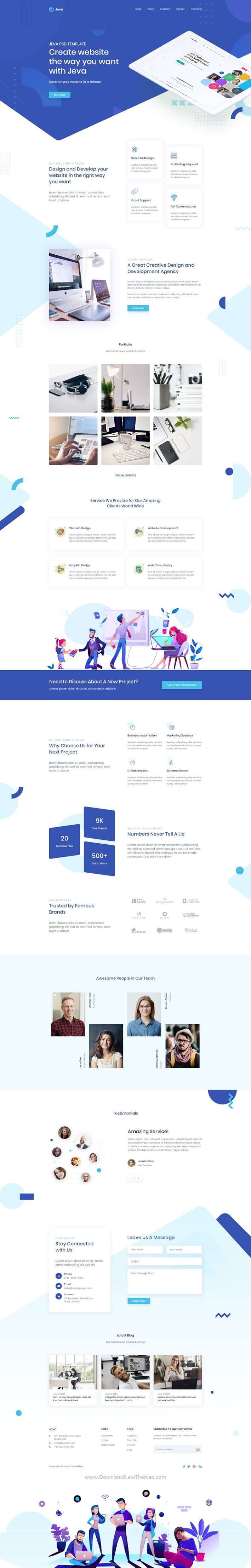 Creative Agency & Startup Landing Page