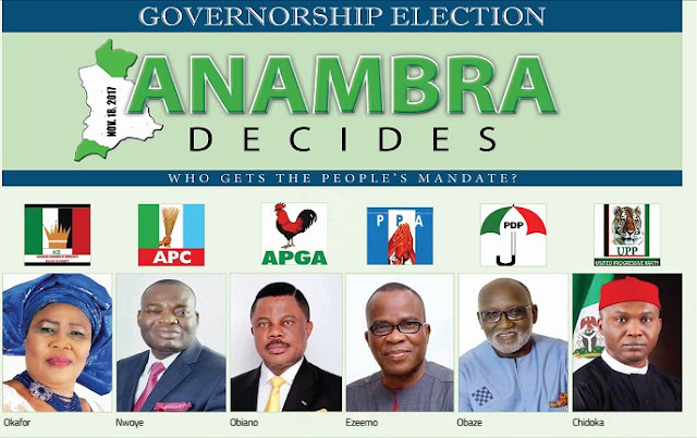 Results of the Anambra 2017 election - APGA, APC, PDP