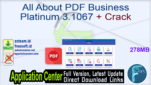 All About PDF Business Platinum 3.1067 + Crack