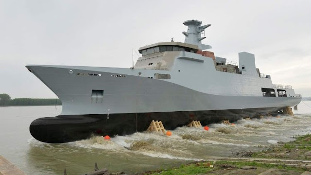 Damen Launched First Corvette to be built for Pakistan in Romania